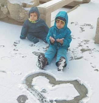 Niños en nieve