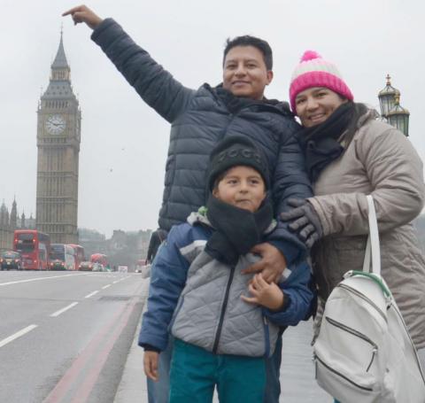Elkin Useche y familia, misioneros colombianos para Londres