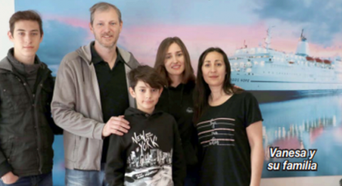 Vanesa y su familia